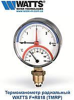 Термоманометр радиальный WATTS F+R818 TMRP 80мм, 0-120°C, 0-4 бар , фото 1