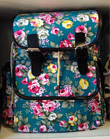 Городской молодежный рюкзак с цветочным принтом