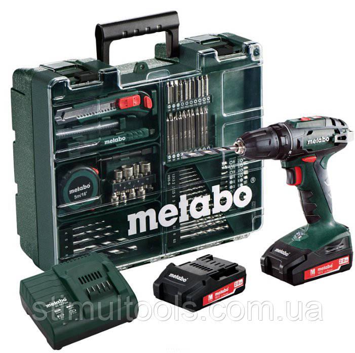 Аккумуляторный шуруповерт Metabo BS 18 SET (Мобильная мастерская)