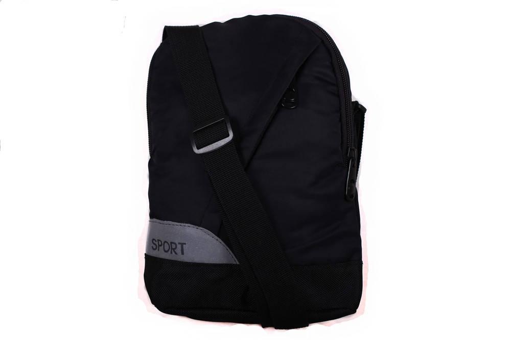 Спортивная сумка через  плечо черного цвета 301508