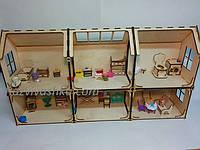"""Кукольный домик """"Верона"""" (50см х 90см) для Pony, Winx (mini), Steffi, Evi (12 см)"""