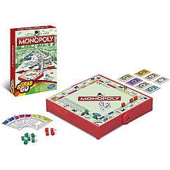 Настольная игра Монополия (компактная дорожная версия). Оригинал Hasbro B1002