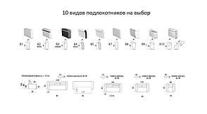"""Мягкий раскладной кожаный диван """"FX-10 LIGHT 3R"""" (218см), фото 3"""