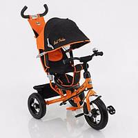 Детский трехколесный велосипед 5555 с надувными колесами (наличие цвета уточняйте)
