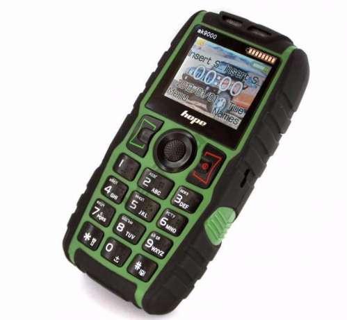 Телефон Land Rover AK8000 Зеленый Противоударный (2sim, мощная батарея 5000 mAh, фонарик)