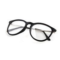 Имиджевые очки с прозрачной линзой Чёрный глянец