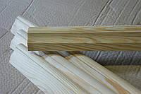 Плинтус широкий 45*22, багет деревянный сосна №6