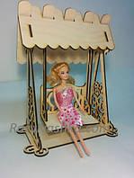 Кукольная Качеля резная  (под роспись, декупаж)