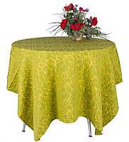Скатерть жаккардовая из натурального хлопка, 100% хлопок, светло-зеленая