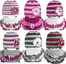 Зимний комплект Цветок: шапка и шарф-хомут  для девочки, фото 2