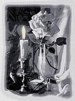 Свеча и роза. Dream Art. Набор алмазной живописи (квадратные, полная)