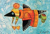 """Почтовая открытка """"Ворона в шапке"""", фото 1"""