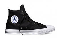 "Кеды Converse All Star Chuck Taylor II High ""Black White"" - Высокие ""Черные Белые"""