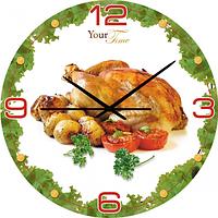01-052 Часы настенные серия Кухня Гриль МДФ круг 28 см