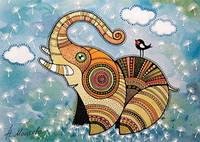 """Мила листівка """"Слоненя"""""""