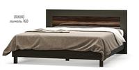 Кровать двухспальная Ева 1600 макасар Мебель-Сервис