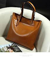 Практичная сумка из натуральной кожи. 6 цветов