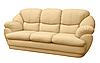 """Трехместный раскладной кожаный диван """"Империал"""" (230см)"""