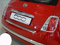 Накладка на бампер с загибом Fiat 500 2007-