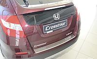 Накладка на бампер с загибом Honda Crosstour 2012-