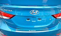 Накладка на бампер с загибом Hyundai Elantra MD 2013-