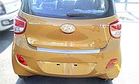 Накладка на бампер с загибом Hyundai I10 FL 2014-