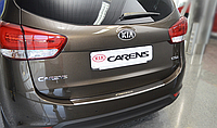 Накладка на бампер с загибом Kia Carens IV 2013-
