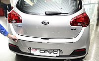 Накладка на бампер с загибом Kia Ceed II 5D 2012-