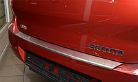 Накладка на бампер с загибом Lada Granta 2010-