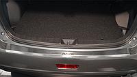 Накладка на бампер с загибом Mitsubishi ASX FL 2013-