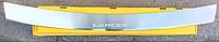 Накладка на бампер с загибом Mitsubishi Lancer X 4D 2007-