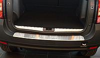 Накладка на бампер с загибом Renault Duster 2010-