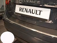 Накладка на бампер с загибом Renault Fluence 2010-