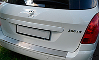 Накладка на бампер с загибом Peugeot  308 SW 2011-
