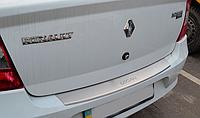 Накладка на бампер с загибом Renault Logan III 2012-