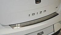 Накладка на бампер с загибом Seat Ibiza IV 5D 2009-