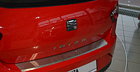 Накладка на бампер с загибом Seat Ibiza IV 3D FL 2012-