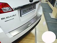 Накладка на бампер с загибом Subaru Outback 2009-