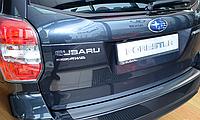 Накладка на бампер с загибом Subaru Forester IV 2013-