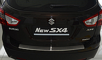 Накладка на бампер с загибом  Suzuki SX4 II 5D 2014-