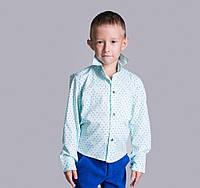 Детская рубашка для мальчика Мятная