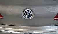 Накладка на бампер с загибом Volkswagen Passat CC 2008-
