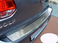 Накладка на бампер с загибом Volkswagen Golf VI 5D 2008-
