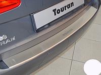 Накладка на бампер с загибом Volkswagen Touran II 2010-