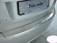 Накладка на бампер с загибом Volkswagen Polo V 4D 2009-