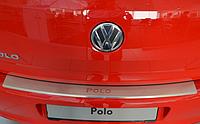 Накладка на бампер с загибом Volkswagen Polo V 5D 2009-