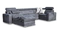 Кожаный диван с оттоманкой FX-15 релакс (301см-218см)