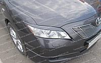 Реснички на фары Toyota Camry 40 верхние (накладки на передние фары Тойота Камри 40)