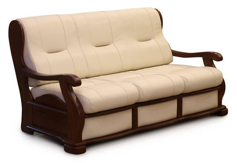 """Прямой раскладной диван в коже """"Триумф"""" (195см)"""