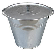 """Бак (выварка) 15 литров оцинкованный с крышкой и решеткой """"Метид"""""""